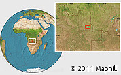 Satellite Location Map of Bango