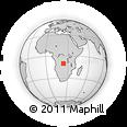 Outline Map of Zumbo, rectangular outline