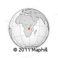 Outline Map of Kala, rectangular outline