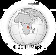 Outline Map of Mubende, rectangular outline