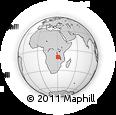 Outline Map of Chilubula, rectangular outline