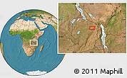 Satellite Location Map of Isoka