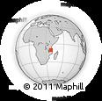 Outline Map of Nachingwea, rectangular outline