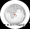 Outline Map of Ntandi, rectangular outline