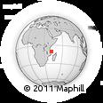 "Outline Map of the Area around 10° 17' 43"" S, 41° 43' 30"" E, rectangular outline"