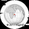 "Outline Map of the Area around 10° 17' 43"" S, 42° 34' 30"" E, rectangular outline"