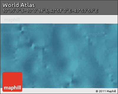 """Satellite 3D Map of the Area around 10°17'43""""S,43°25'29""""E"""