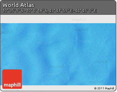 """Shaded Relief 3D Map of the Area around 10°17'43""""S,44°16'29""""E"""