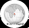 "Outline Map of the Area around 10° 17' 43"" S, 45° 7' 30"" E, rectangular outline"