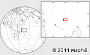 """Blank Location Map of the area around 10°17'43""""S,45°58'30""""E"""