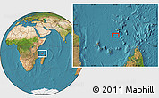"Satellite Location Map of the area around 10°17'43""S,45°58'30""E"