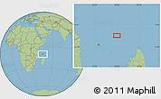 "Savanna Style Location Map of the area around 10°17'43""S,45°58'30""E"