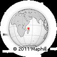 "Outline Map of the Area around 10° 17' 43"" S, 47° 40' 29"" E, rectangular outline"