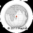 "Outline Map of the Area around 10° 17' 43"" S, 48° 31' 29"" E, rectangular outline"