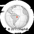 Outline Map of Palmas, rectangular outline