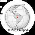 Outline Map of Jaru, rectangular outline