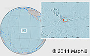 """Gray Location Map of the area around 10°48'54""""S,137°37'30""""W, hill shading"""