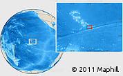 """Shaded Relief Location Map of the area around 10°48'54""""S,137°37'30""""W"""