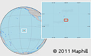 """Gray Location Map of the area around 10°48'54""""S,138°28'29""""W"""
