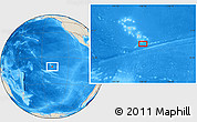 """Shaded Relief Location Map of the area around 10°48'54""""S,138°28'29""""W"""