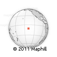 """Outline Map of the Area around 10° 48' 54"""" S, 138° 28' 29"""" W, rectangular outline"""