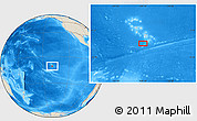 "Shaded Relief Location Map of the area around 10° 48' 54"" S, 139° 19' 29"" W"