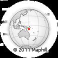 Outline Map of Makabweabweau, rectangular outline