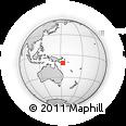 Outline Map of Misima Island, rectangular outline