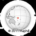 Outline Map of Temotu Province, rectangular outline