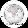 Outline Map of Likasi, rectangular outline