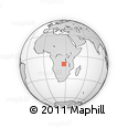 Outline Map of Matanga, rectangular outline