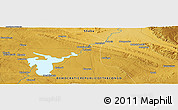 """Physical Panoramic Map of the area around 10°48'54""""S,27°16'29""""E"""