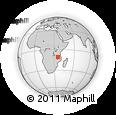 Outline Map of Songea, rectangular outline