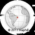 Outline Map of Aracaju, rectangular outline
