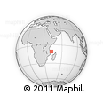 "Outline Map of the Area around 10° 48' 54"" S, 42° 34' 30"" E, rectangular outline"