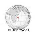 "Outline Map of the Area around 10° 48' 54"" S, 44° 16' 29"" E, rectangular outline"
