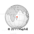 "Outline Map of the Area around 10° 48' 54"" S, 47° 40' 29"" E, rectangular outline"