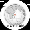 "Outline Map of the Area around 10° 48' 54"" S, 48° 31' 29"" E, rectangular outline"