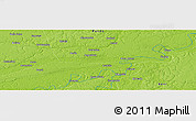 "Physical Panoramic Map of the area around 10° 48' 54"" S, 66° 13' 29"" W"