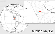 """Blank Location Map of the area around 10°48'54""""S,75°34'29""""W"""