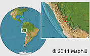 "Satellite Location Map of the area around 10°48'54""S,75°34'29""W"