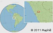 "Savanna Style Location Map of the area around 10°48'54""S,75°34'29""W"