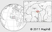 Blank Location Map of Bawku