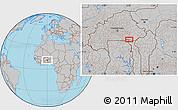 Gray Location Map of Bawku