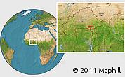 Satellite Location Map of Bawku