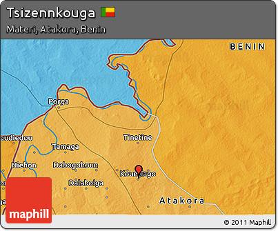Political 3D Map of Tsizennkouga