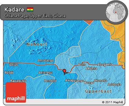 Political 3D Map of Kadare