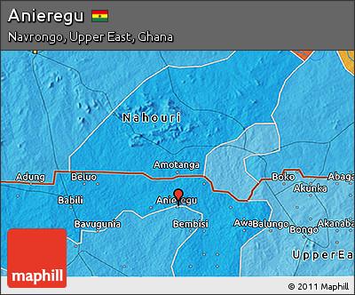 Political 3D Map of Anieregu