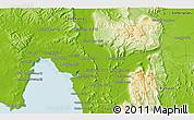 Physical 3D Map of Phumĭ Chitréh (1)