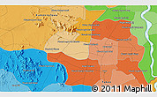 Political 3D Map of Phumĭ Âmpĭl Krânhĕnh